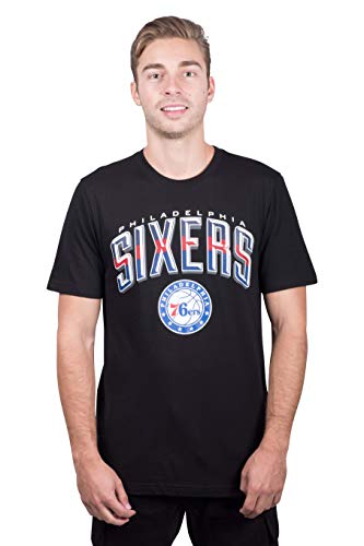 (NBA Philadelphia 76ers Men's T-Shirt Arched Plexi Short Sleeve Tee Shirt, Large, Black)