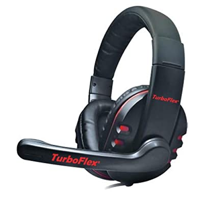 "TurboFlexâ""¢ PC Gaming Headset - Amazing Crisp Clear Stereo Over Ear Headphones with Microphone / Universal Computer Headset for Games, Skype, VoIP, etc. / Exceptional Noise Reduction and Noise Cancelling / Powerful Drivers with Deep Rich Bass / Ultra Lig"