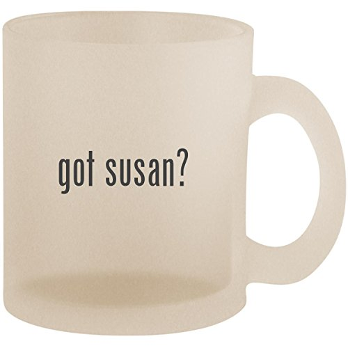 (got susan? - Frosted 10oz Glass Coffee Cup Mug)