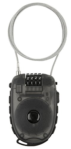 M-Wave Aufroll-Zahlen-Kabel-Schloss, 90cm x 2,4 mm