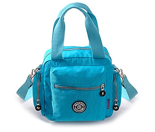 Tote Blue Single Waterproof Handbag Women's Travel TM Crossbody Light Fansela Green Shoulder Nylon B7wxXcq