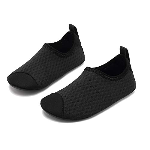 f6d7b1f962e3 Coolloog Toddler Baby Water Shoes Kids Swim Soft Sole Shoes First Walker  Barefoot Skin Infant Toddler Moccasins Black