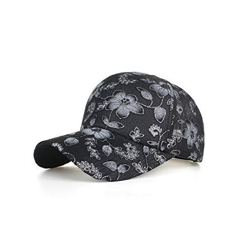 Canvas Classic Cap - Pausseo Sun Hat, Unisex Classic Cotton Lace Baseball Cap Hat Adjustable Plain Caps