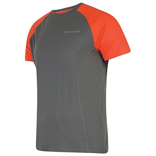 Dare 2b 2017 Mens Undermine T Shirt - US 3XL - Athletic Grey/Trail (Dare S/s Tee)