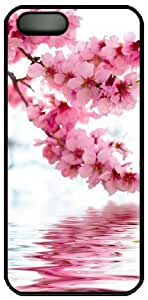 Pink Cherry Blossom And Reflection In The Water Theme Iphone 5 5S Case