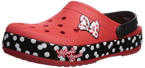 Crocs  Crocband Minnie Dots Clog Shoe, flame, 8 US Men/ 10 US Women M -