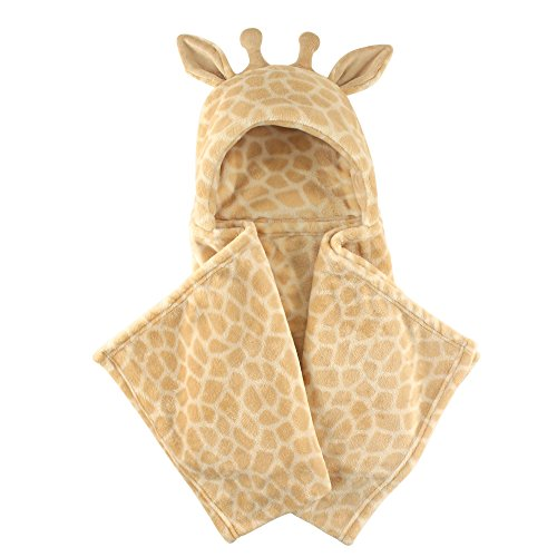 Hudson Baby Hooded Plush Blanket, Giraffe, One Size ()