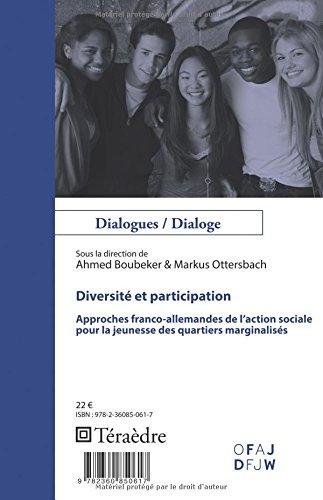 Diversité et participation: Approches franco-allemandes de l'action sociale pour la jeunesse des quartiers marginalisés (French Edition) pdf epub