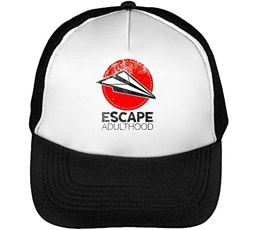Escape Blanco Adulthood Hombre Snapback Negro Beisbol Gorras rrOTwC