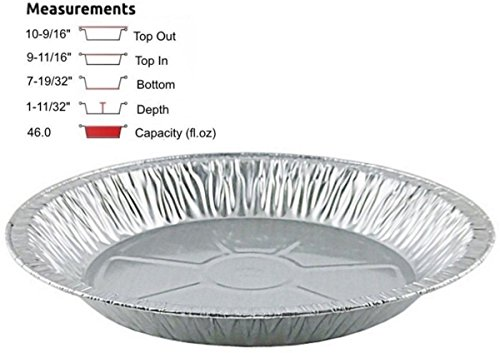 Pactogo 11 inch Aluminum Foil Pie Pan Extra-Deep Disposable Tin Plates (Pack of 500)