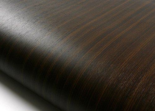 ash Ash Wood Brown Black Contact Paper Self-adhesive Wallpaper Shelf Liner Table and Door Reform KW132N : 2.00 Feet X 6.56 Feet (Wood Ash Stripe)