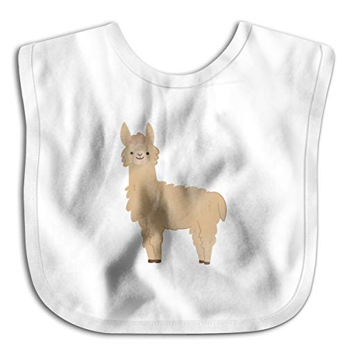Brown Llama Funny Baby Bibs Burp Infant Cloths Drool Toddler Teething Soft Absorbent -