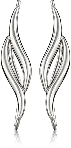 (The Ear Pin Sterling Silver Classic Double Curves Earrings)