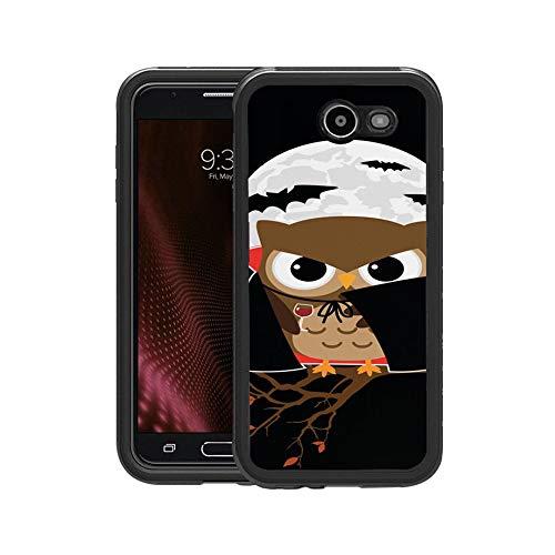 FIDIKO Luxury Vampire Owl Pattern Protective Case Compatible Galaxy j7, Tough Tough Hippie Design Hard Case Compatible Samsung Galaxy j7 -
