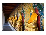 Statues of Buddha in a row, Wat Arun, Bangkok, Thailand Poster (24.00 x 18.00)