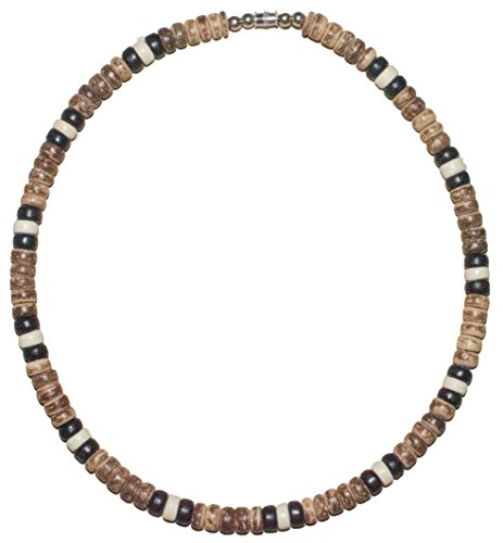 Native Treasure 20 inch Transformers Wood Coco Bead Surfer Beach Necklace - 8mm (5/16