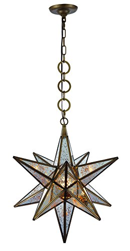 1703 Orion Collection Pendant L:18 W:18 H:22 Lt:1 Dark Antique Brass Finish - Light Orion Collection 1