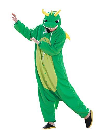 WOTOGOLD Animal Cosplay Costume Dragon Unisex Adult Pajamas Light Green -