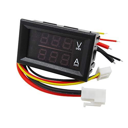 Laliva 3D Printer - DC 0-100V 10A Digital Voltmeter Ammeter Dual Display Voltage Detector Current Meter Panel Amp Volt Gauge 0.28