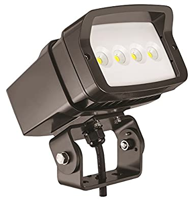 Lithonia Lighting OFL1 LED P2 40K MVOLT YK DDBXD M4 4000K Color Temperature Size 1 Floodlight with P2 Performance Package - Yoke Mounted