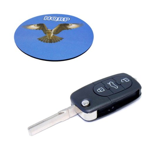 HQRP 4 Buttons Key Fob for Audi A6 1997 1998 1999 2000 97 98 99 00 Folding Flip Shell Remote Case plus HQRP Coaster
