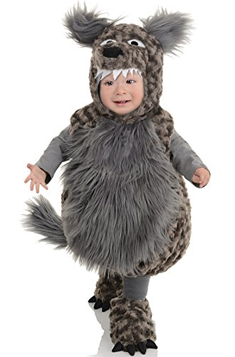 Baby Werewolf Costume (Underwraps Baby's Wolf Belly, Dark Grey, Medium)