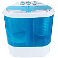 YHG Electric Mini Portable Compact 8-9lbs Capacity Washer Washing Machine Spin Dryer Laundry Blue