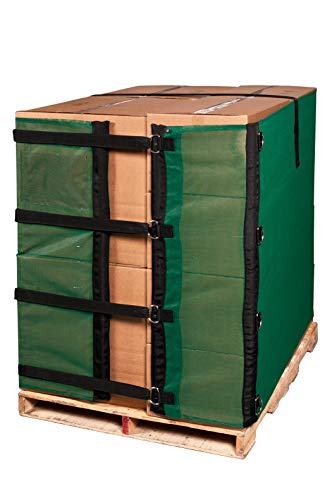 Reusable Heavy Duty Eco Green Pallet Cover Wrap 55 INCH Alternative to Shrink Wrap ()