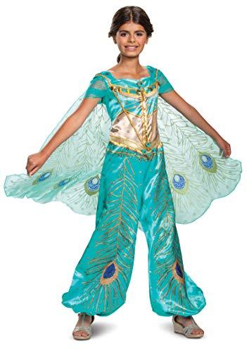 Disney Princess Jasmine Aladdin Deluxe Girls' Costume, Teal
