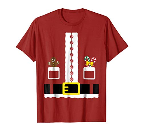 Santa Clause Outfit Christmas Costume Fun Gift Funny T-Shirt -