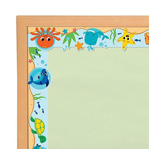 Fun Express - Under The Sea Bulletin Board Borders - Educational - Classroom Decorations - Bulletin Board Decor - 12 Pieces]()