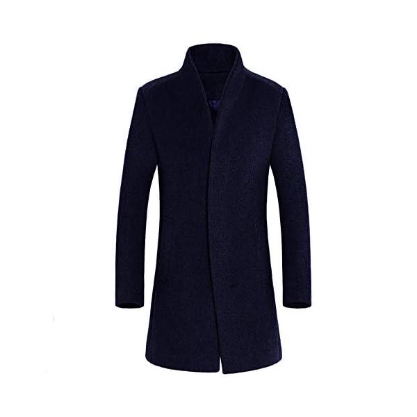 Manteau Homme Automne Hiver Chaud Long Slim Trench Coat Vestes en Laine Manche Longues Fashion à La Mode Duffle Coat