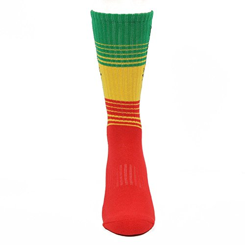 Famous Stars and Straps Men's High Dye Socks Red