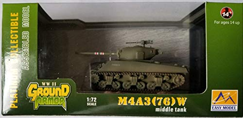 (WWII Ground Armor Easy Model Platinum Collectible 1:72 Scale M4A3(76) W Tank)