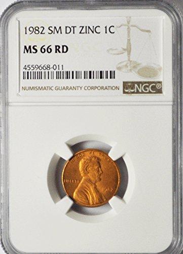1982 P Lincoln Memorial Cent Small Date Zinc Philadelphia 1c MS66 NGC RD