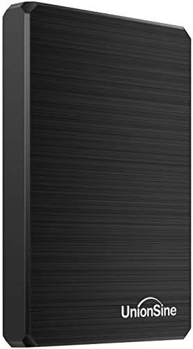 UnionSine 250GB Ultra Slim Portable External Hard Drive USB3.0 HDD Storage Compatible for PC, Desktop, Laptop, Xbox One, Xbox one, PS4(Black) (250GB)