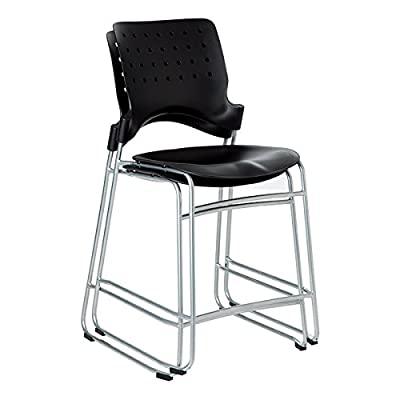 "Learniture Ballard Counter-Height Stool, 24 1/5"" Seat Height, Black, LNT-TSU1034-SO (Pack of 2)"