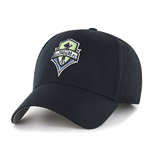 OTS MLS  Seattle Sounders Fc  All-Star MVP Adjustable Hat, Black, One Size