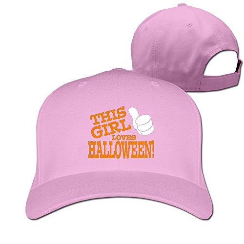 Runy Custom This Girl Loves Halloween Adjustable Hunting Peak Hat & Cap Pink