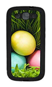 Samsung Galaxy S3 I9300 Cases & Covers - Three Eggs And Grass Custom TPU Soft Case Cover Protector for Samsung Galaxy S3 I9300 - Black