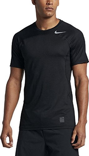 Men's Nike Pro Hypercool Top (Medium, Black/Black/Cool Grey)