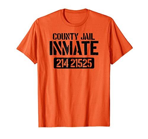 Prisoner County Jail Inmate Halloween Men Costume