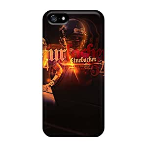 Protector Cell-phone Hard Covers For Iphone 5/5s With Allow Personal Design Beautiful Chicago Bears Skin ErleneRobinson