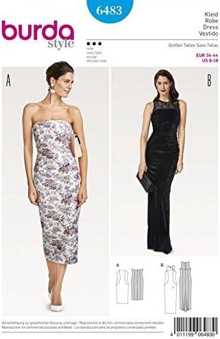 Burda Ladies Sewing Pattern 6866 Floor Length Evening Dresses