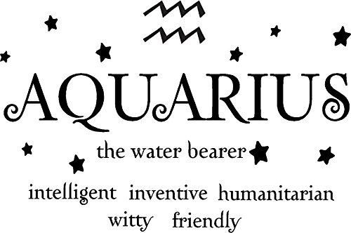 Aquarius the water bearer horoscope zodiac vinyl wall art decal home decor sayings quotes