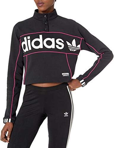 adidas オリジナル レディース クロップドセーター スウェットシャツ