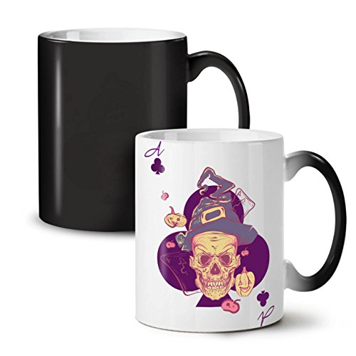 Dead Halloween Wich Skull Black Colour Changing Tea Coffee Ceramic Mug 11 oz | Wellcoda