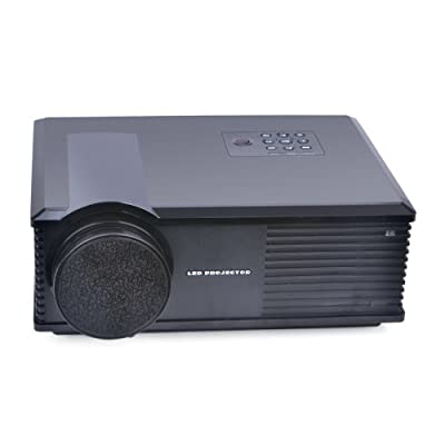 LightInTheBox PH580 3200 Lumens 1080P HD LCD Projector Portable Home Theater Multimedia Projectors 1280x800 with HDMI TV AV VGA USB Audio Input for Office Business Meeting Entertainment