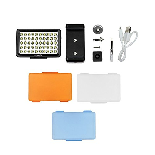 LED-Video-Light-Commlite-CM-L50-Dimmable-50-LED-Ultra-High-Power-Panel-video-light-Portable-Multi-functional-Mini-for-Micro-Camera-Sony-Camera-and-smartphone