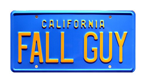 Celebrity Machines Fall Guy | Metal Stamped License Plate (Fall The Guy Truck)